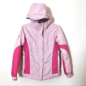 Columbia girls pink youth sportswear jacket  14/16